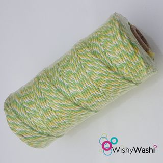 Lime, Yellow & White Bakers Twine