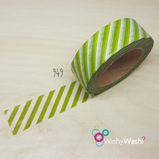 949 - Green Stripe Washi Tape