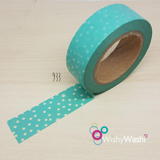 933 - Mint Green with Little Spots