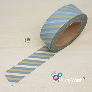 2274 - Grey and Gold Stripe Washi Tape