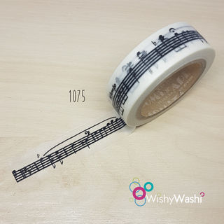 1075 - Music Note Washi Tape