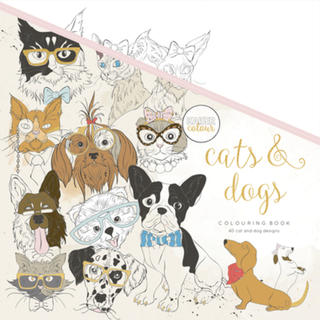 Cat & Dogs Colouring Book