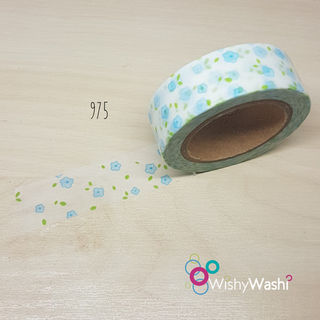 975 - Little Blue Flower Washi Tape