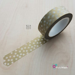 1331 - Gold with White Spot Washi Tape