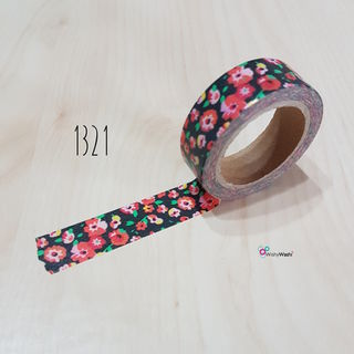 1321 Red Floral Washi Tape