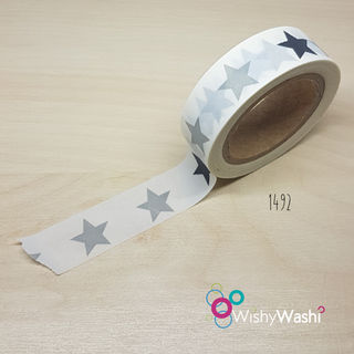 1492 Grey Star Washi Tape