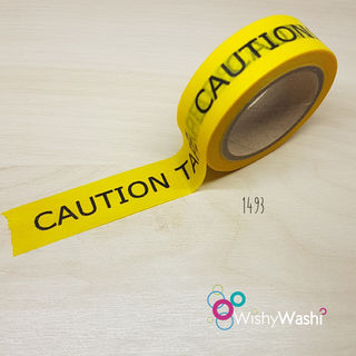 2103 - Caution Washi Tape