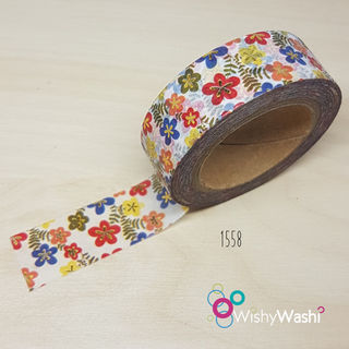 1558 - Floral with Gold Foil Washi Tape