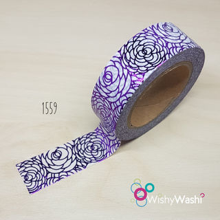 1559 - Purple Foil Washi Tape