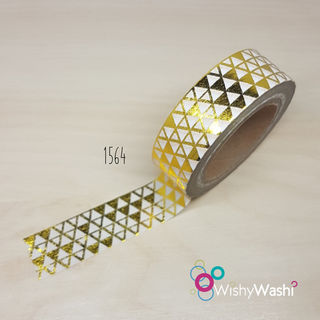 1564 - Gold Foil Triangles Washi Tape