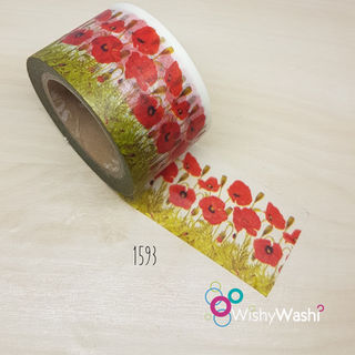 1593 - Poppy Washi Tape