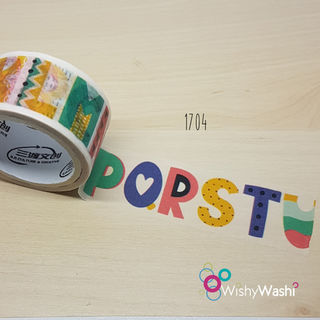 1704 - Alphabet #2 Washi Tape
