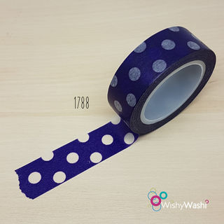 2033 - Dark Purple with White Spots