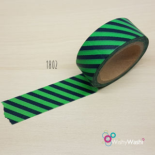1802 - Green and Black Stripe