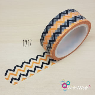 1917 - Orange and Black Chevron