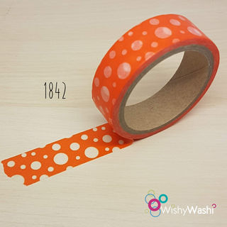 1842 - Orange with white circles