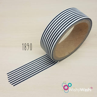 1890 - Black and White Thin Stripe