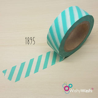 1895 - Seafoam and White Stripe