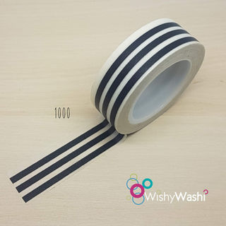 1000 - Black and White Stripe