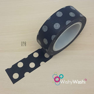 098 - Black with White Spot