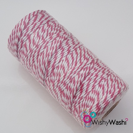 Pink & White Bakers Twine