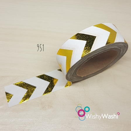 951 - Gold Foil Chevron