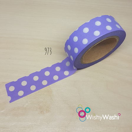 973 Purple with White Spot Washi Tape