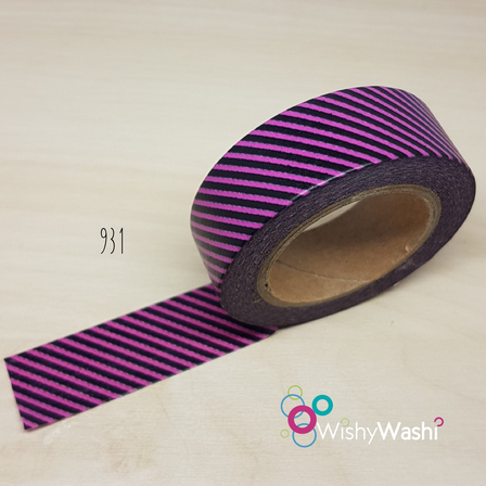 931 Pink and Purple Stripe Washi Tape