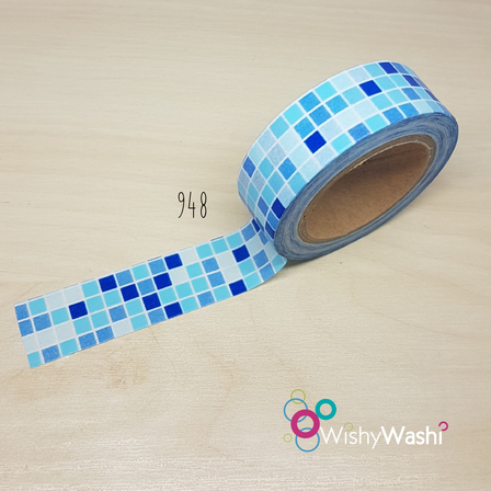 948 - Blue Squares Washi Tape