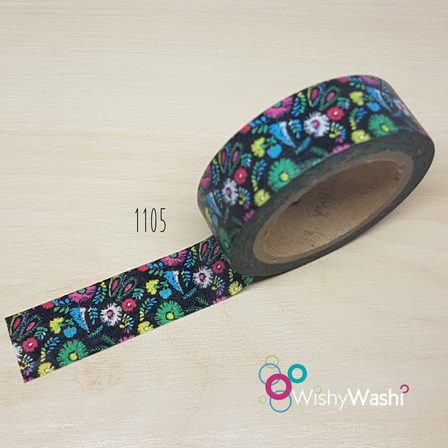 1105 - Floral Washi Tape