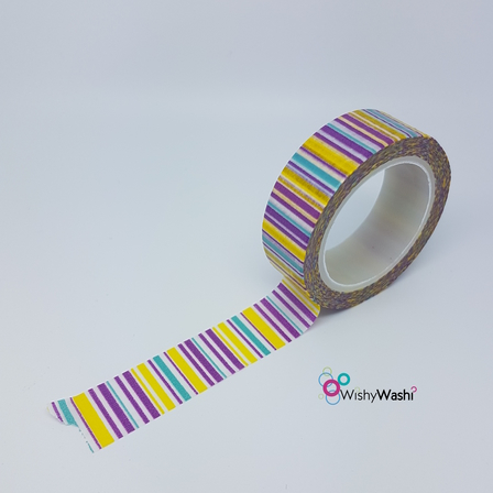 1132 - Purple/Yellow/Blue Stripe