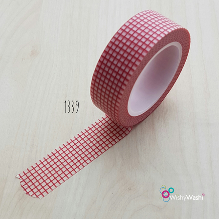 1339 - Red Grid Washi Tape
