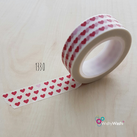 1330 Red and Pink Hearts Washi Tape