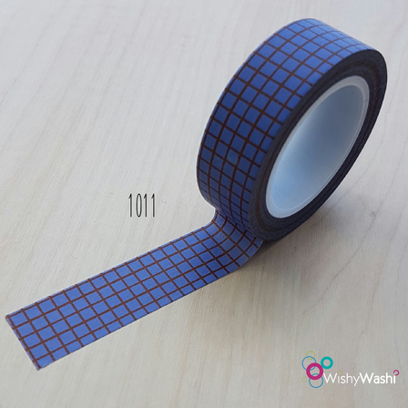 1011 - Purple and Brown Grid Washi Tape