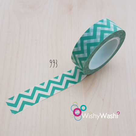 993 - Seafoam Chevron Washi Tape
