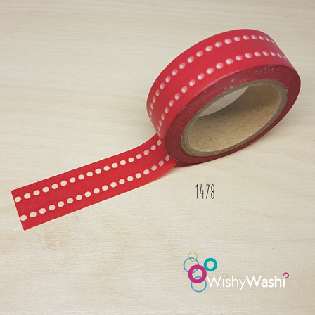 2111 - Red with White Spots Washi Tape