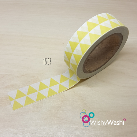 1503 Yellow Triangle Washi