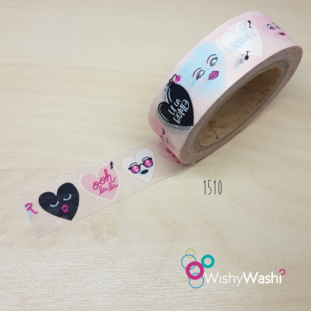 1510 Heart Washi Tape