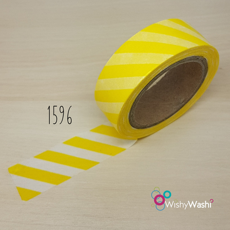1596 - Yellow Stripe Washi Tape
