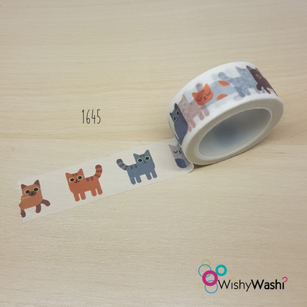 1645 - Cat Washi Tape