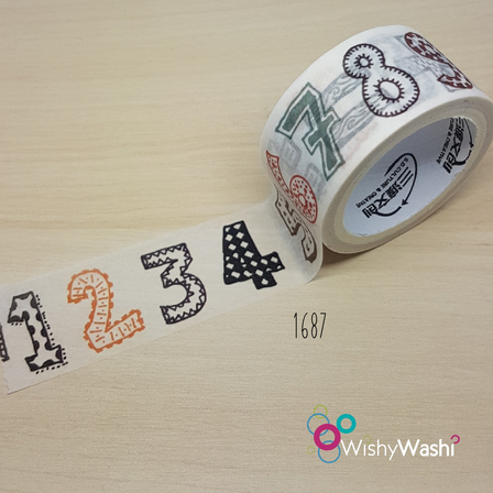 1687 - Numbers Washi Tape