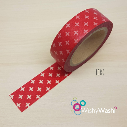 1080 - Red with White Cross
